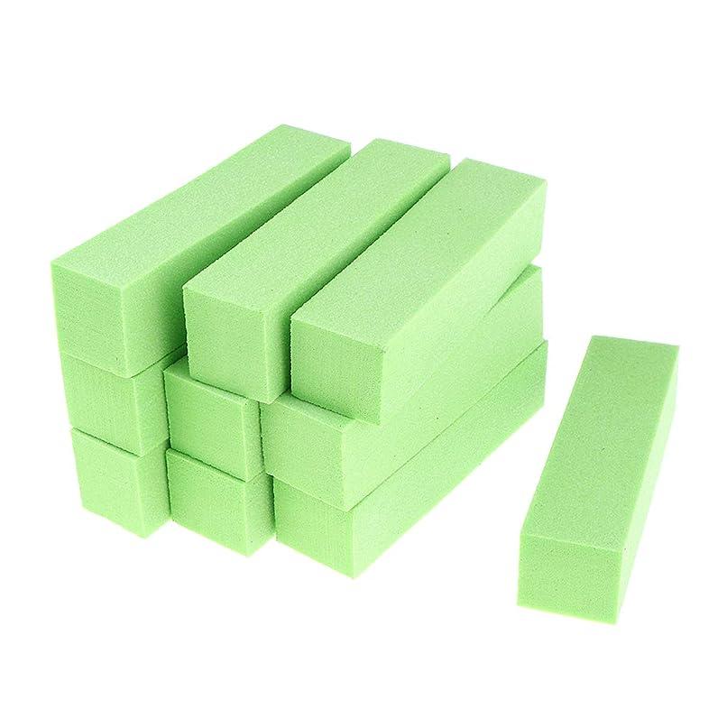 クレアハードウェア重要性ネイルファイル ジェルネイル用 アクリルネイル ネイルバッファブロック 爪やすり 全5色 - 緑