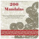 200 Mandalas Libro de colorear fácil para niños - Espacios grandes de color - Diseños dibujados a mano - Bueno para todas las edades - Páginas para ... de colorear grandes para aliviar el estrés
