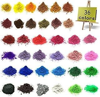 Mica Powder–Epoxy Resin Dye–Soap Dye Soap Colorant for Bath Bomb Dye Colorant– 36 Powdered Pigments Set – Mica Powder Orga...