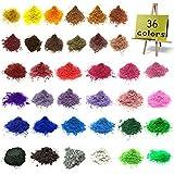 Mica Powder–Epoxy Resin Dye–Soap Dye Soap Colorant for Bath Bomb Dye Colorant– 36 Powdered Pigments Set – Mica Powder Organic for Soap Molds–Makeup Dye