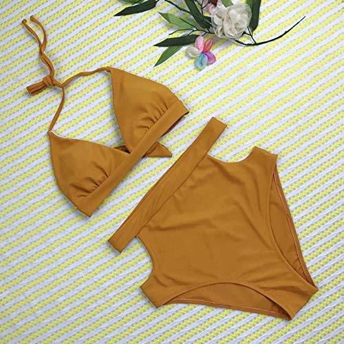 HUIJUNWENTI Mujeres Atractivas del Bikini Establece Vendaje Push-up Sujetador con Relleno sólido Trajes de baño Traje de baño Ropa de Playa Trajes de baño Traje de Brasil