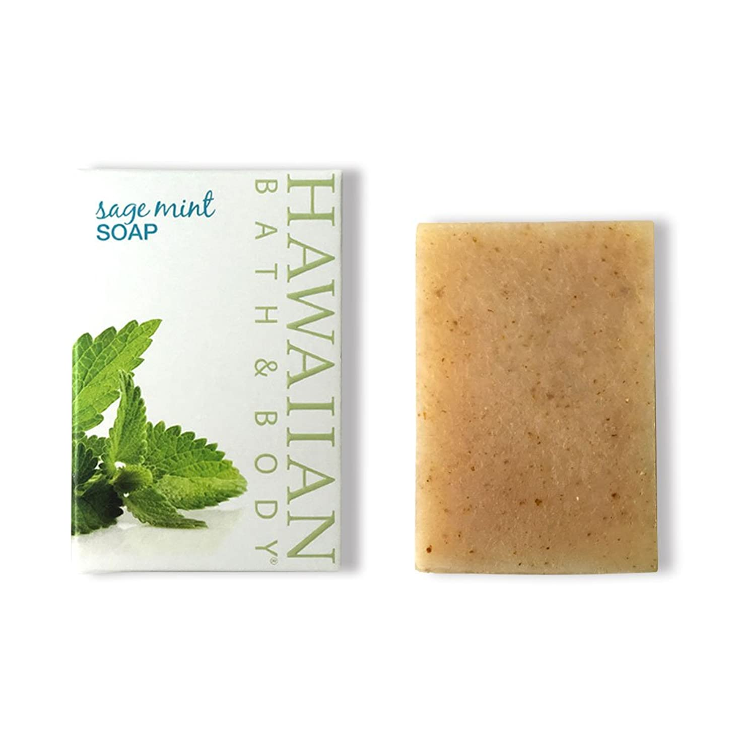 盆キャプチャーピアハワイアンバス&ボディ セージ?ミントソープ(オーシャンミント)( Sage Mint Soap )