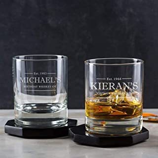 Personalised Whiskey Glass Whisky Tumbler Engraved Gift Ideas