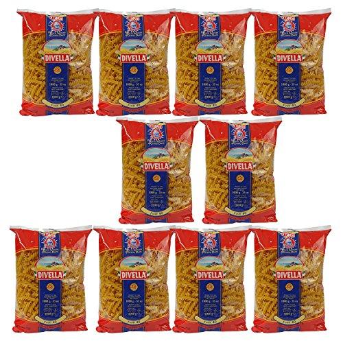 10 x DIVELLA Nr.40 Fusilli (10 x 1000g Packung)