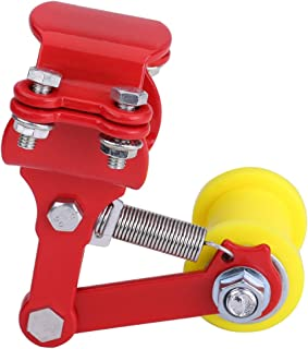 Motorcycle Chain Tensioner Adjustable Chain Adjuster Tensioner Universal Fit Most Motorcycle(Red)