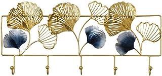 Creativo geométrico gingko hoja decoración de pared multifuncional abrigo y sombrero almacenamiento rack rack-cojined ganc...