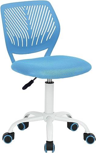 barato Silla Silla Silla de escritorio Fanilife, ajustable y giratoria sin brazos de diseño, para niños, silla para el ordenador, para los deberes, para estudiar, Color negro  ofreciendo 100%