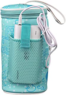 Baby Bottle Warmer Bag,Travel Car Baby Bottle Warmer, Composite Heating Element Warming Bag Portable USB Heating Intelligent Warm Milk Tool Insulation Cover
