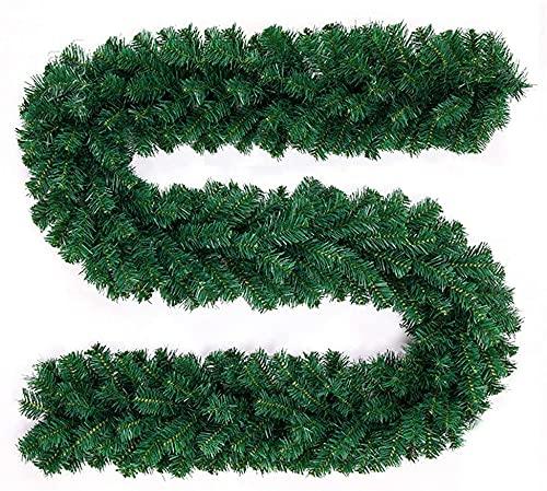 harupink 2.7m Ghirlanda Natalizia Ghirlanda per Decorazioni Natalizie per Scale, Caminetti, Decorazione di Porte e Finestre (1pz)