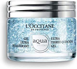 L'Occitane Moisturizing Water-Based Aqua Reotier Ultra Thirst-Quenching Gel Enriched with Hyaluronic Acid, Net Wt, 1.5 Ounce