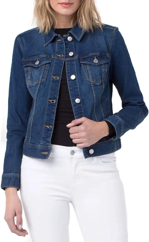 Liverpool Women's Classic Button Front Denim Stretch Jacket