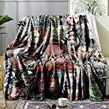 Horror Movie Character Blanket, Blanket Rug Soft Throw Fleece Blankets for Gift Bed Sofa 60'X50' Lightweight Flannel Blanket Bedding
