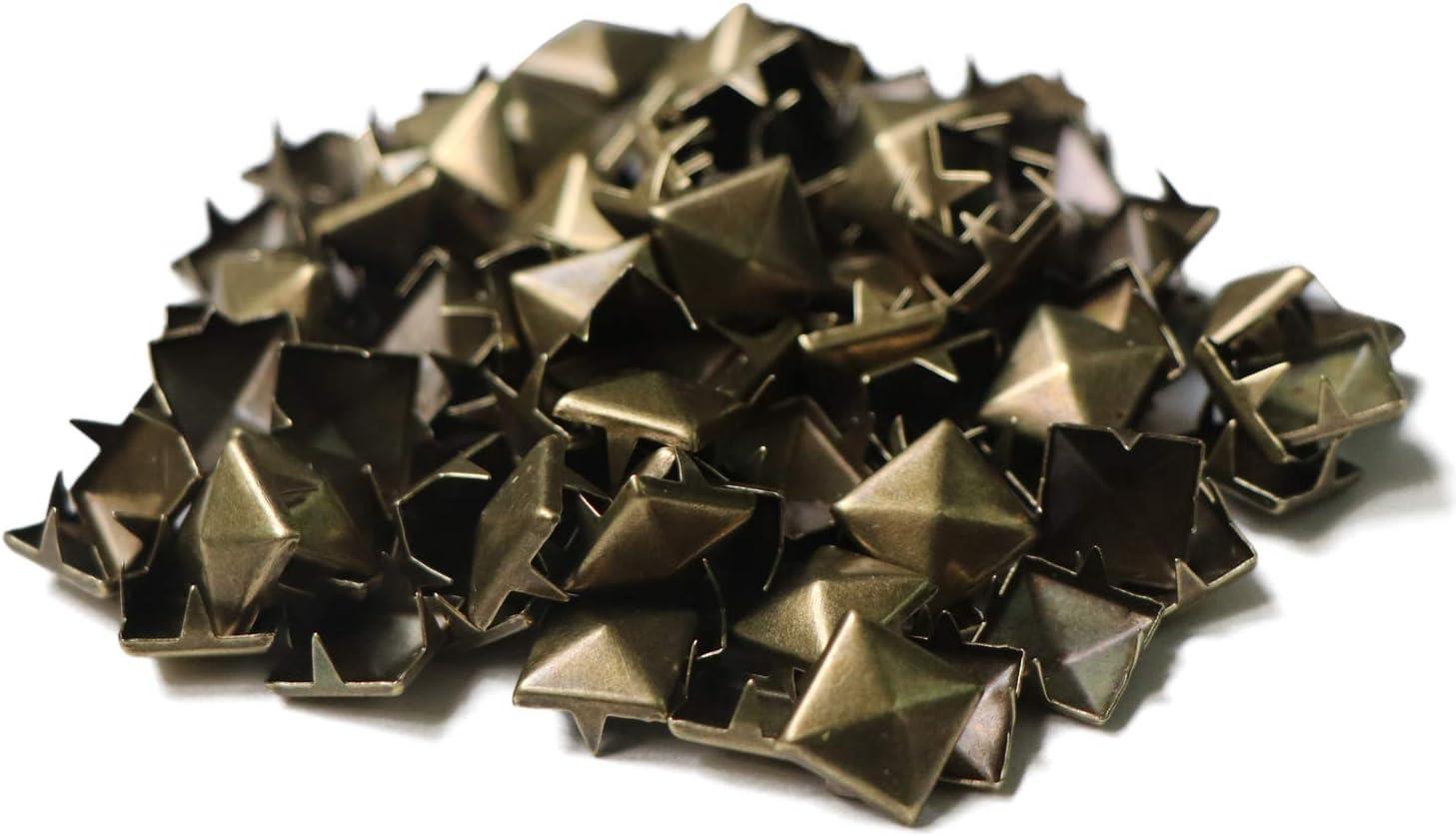 SPWOLFRT Great interest 100PCS 10mm Pyramid Shaped Studs Max 82% OFF Punk DIY Square Rivet