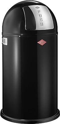 WESCO (ウェスコ) プッシュビン&メタルライナー50L PUSHBOY ブラック サイズ:∅40×H75.5cm 175831-62