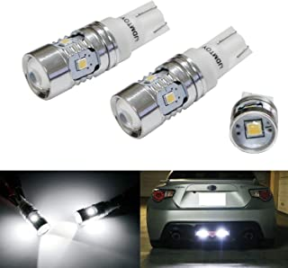 Briteye Xenon White 194 168 LED Bulbs Error Free T10 W5W 175 2825 192 LED Bulbs With Lens+19Leds Chipset 360/° Super Bright Car Interior Lights For Courtesy Trunk Parking Licence Plate Bulbs 2PCS