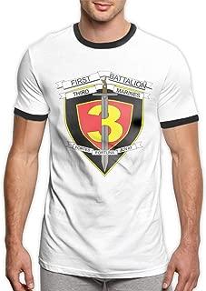 1st Battalion 3rd Marines Men's Ringer T-Shirt