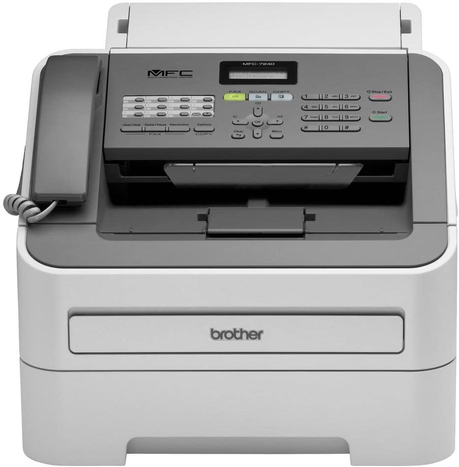 Brother Printer MFC7240 Monochrome Printer with Scanner, Copier and Fax,Grey, 12.2