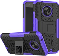 Moto X4 Case, YMH Dual Layer with Kickstand Shock-Absorption Rugged Armor Military Grade Drop Tested Cover Full-Body Protective Heavy Duty Case Combo PC + TPU Back for Motorola Moto X4 2017 (Purple)