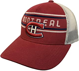 adidas Montreal Canadiens Red CCM Vintage Mesh Structured Snapback Hat Cap