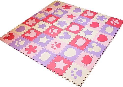 Puzzle-Spielmatte für Kinder, ungiftige Schaumstoffmatten (Farbe   Lila, Größe   24 Piece)