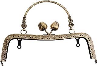 Fabbricazione borse P Prettyia 4 PCS Cornice Metallo Chiusura Gancio Bronze Argento Placcato per Borsa Portafogli Monete