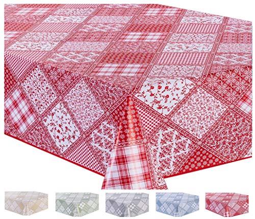 Home Direct Nappe Toile cirée PVC Rectangulaire 140 x 200 cm Rouge