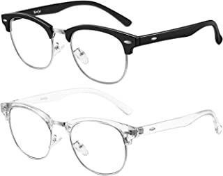 Tanlys 2 Pack Blue Light Blocking Glasses for Computer Eye Strain [Dry Eye & Sour Eye], Anti UV Reduce Headache Stylish