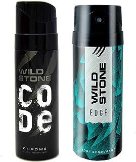 Wild Stone Edge Deodorant and Chrome Code Combo (150 ml + 120 ml)