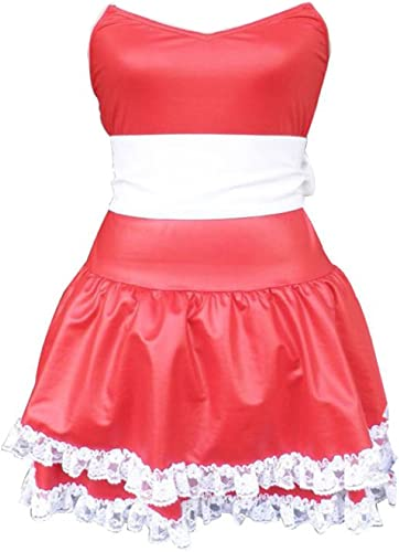 Dream2Reality Christmas Cuture Kostuem Outfit - rot Bunny Girl Dress 1st Ver Kid Größe Large