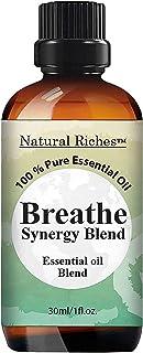 Sponsored Ad - Natural Riches Breathe Essential Oil Blend - Peppermint Eucalyptus Tea Tree Lemon Cardamom Pine Needle Esse...
