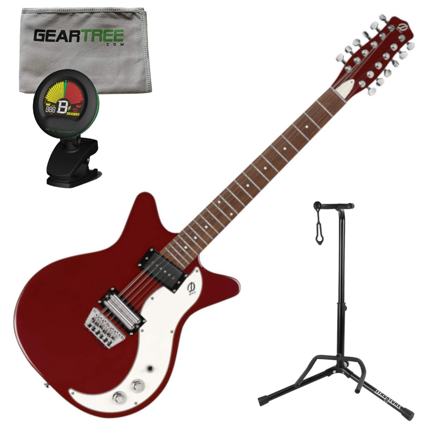 Cheap Danelectro D59X12 59X 12 String Electric Guitar Red w/Polish Cloth Stand and Black Friday & Cyber Monday 2019