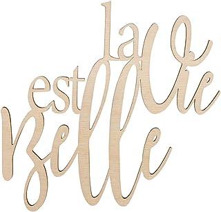 """Rayher 46417505 Ecriture bois """"La vie es belle"""" FSC100%"""