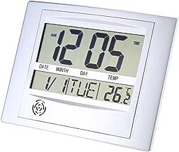 LIOOBO Termómetro digital Kickstand Calendar Clock para el hogar sin batería