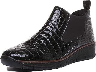 Women's Eria Leather Slip On Wedge Heel Chelsea Boots