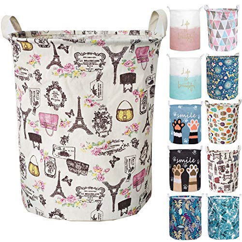 Aouker Merdes 19.7'' Waterproof Foldable Laundry Hamper, Dirty Clothes...