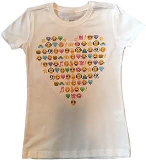 Emoji Graphic design T-shirts, Large 10-12 White Emoji