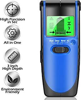 Upgrade Stud Finder Wall Scanner - All in One Electronic Studs/Wood/Live AC Wires/Metal Detector Sensor with Advanced Chip, High Precision Center Finding, Depth High Up to 60mm, HD LCD Monitor Display