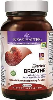 New Chapter Reishi Mushroom - LifeShield Breathe for Lung Function with Cordyceps + Organic Reishi Mushroom + Vegan + Non-GMO Ingredients - 60 ct