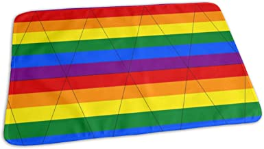 Gay Pride Bunting Baby Portable Reusable Changing Pad Mat 19.7x 27.5 inch