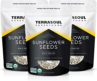 Terrasoul Superfoods Hulled Organic Sunflower Seeds, 6 Lbs (3 Pack)