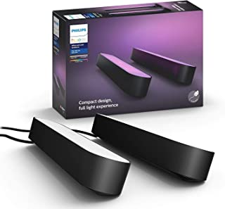 Philips Hue Play - White & Colour Ambiance Smart LED Bar Light - Black - 2 Pack (Base Kit)