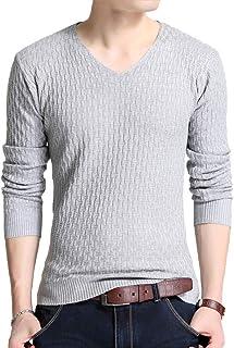 J.STORE [ジェイストア] セーター メンズ ニット Vネック ジオメトリック 無地 カジュアル 秋冬 メンズ M~2XL