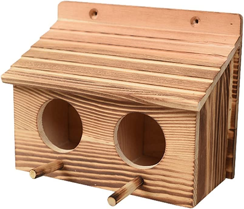 PetPhindU Bird low-pricing Nest Natural Decorative Bir Solid gift Wood
