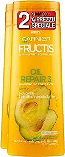 Garnier Fructis Shampoo per Capelli Secchi Oil Repair 3 con Olio di Oliva, Avocado e Karitè, senza Parabeni