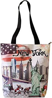 New York USA Flag Souvenir Shopping Shoulder Tote Bag
