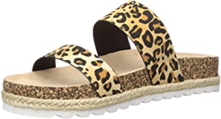 Dirty Laundry by Chinese Laundry Women's DOUBLE PLAY Flat Sandal, Tan Leopard, 6.5 M US