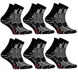 Rainbow Socks - Niño Niña Calcetines Deporte Colores Algodón - 6 Pares - Negro - Talla 30-35