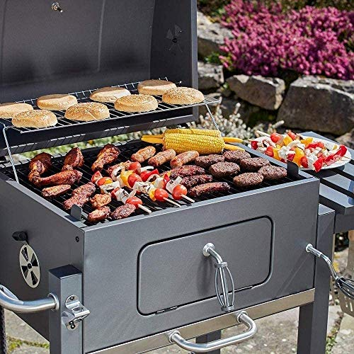 61Rd0CWmlsL - HIZLJJ Feuerstellen, Holzkohlegrill Grillen im Freien, Camping, Tailgating Charcoal Rack-Grill inklusive Faltbare Edelstahl-Grill-Tools Barbecue Grill Regal