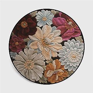 Salon De Tapis Ronds, Chambre À Coucher De Tapis Rond Abstrait De Tendance Nordique, Tapis D'Abstraction Simple De Fleur 3...
