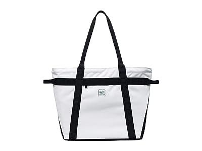 Herschel Supply Co. Alexander Zip (Blanc De Blanc Ripstop/Black) Tote Handbags
